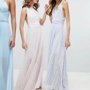 ASOS multi-wear blush maxi dress